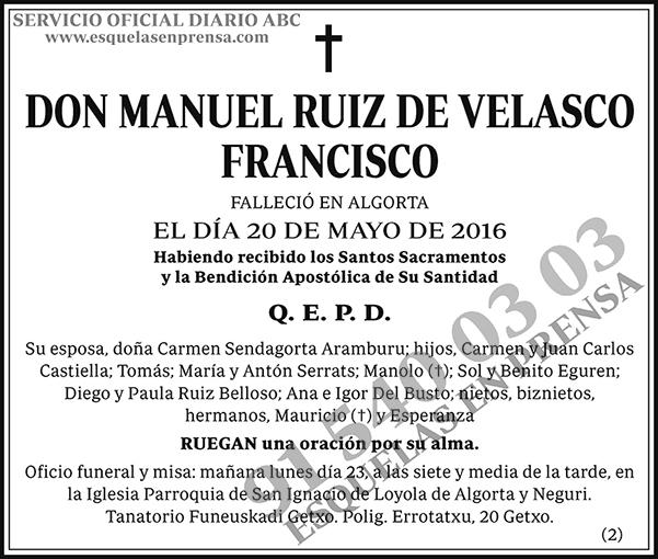 Manuel Ruiz de Velasco Francisco